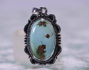 Turquoise Jewelry Royston Turquoise Pendant Sterling Silver Jewelry Sterling Silver Gemstone Pendants