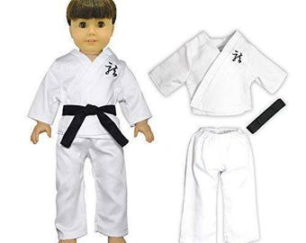 Karate Outfit Fits American Girl, Madame Alexander, My Life Doll & Other 18 Inch Dolls