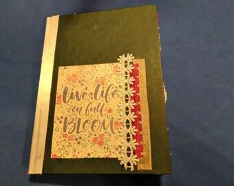 Life In Bloom Junk Journal - Spring Junk Journal - Dyed Paper Junk Journal