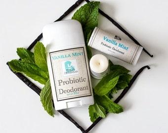 Vanilla Mint Probiotic Deodorant with Magnesium - All Natural
