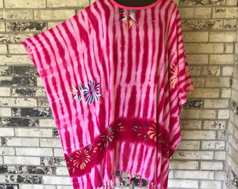 Plus Size Lightweight Hand Painted Tunic