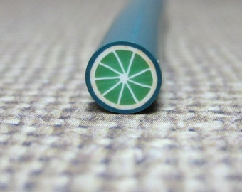 kawaii polymer clay lime cane 1 pcs uncut 5mm diameter DIY for miniature fruits drinks foods desserts decoden citrus slices supplies