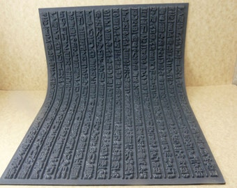 Hieroglyphics Rubber Texture Tile Stamp for Clay, Inks, Paint, Jewelry   MGT405