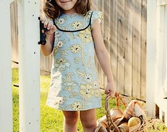 Robe de Kate - 12 mois à 10 ans - PDF Pattern et Instructions de montage-a-line, options de 2 joug, doublé de corsage