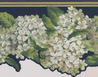 Floral Wallpaper Border Vintage Blooms Hydrangea Wall Decor Modern Design Roll AK7439B