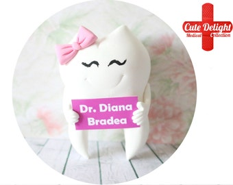 Custom Dentist Tooth Pin,pink bow tooth, tooth pin, teeth pins, tooth pins, tooth brooch, teeth brooch, dental pin,dentist brooch,cute tooth