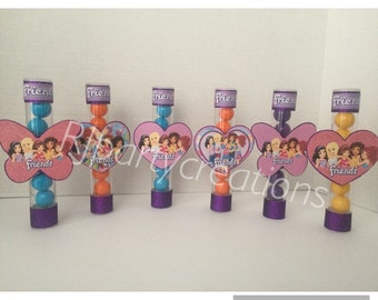 Lego Friends Candy Favor Tubes