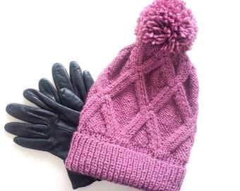 Geometric hat in custom color