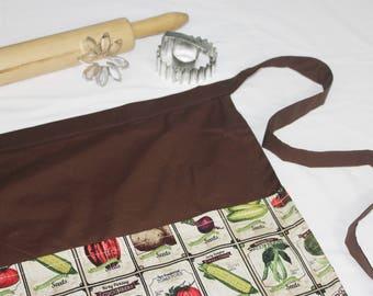 Vegetable Seeds Adult Apron - brown
