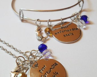 Poor Unfortunate Souls Bangle Bracelet and Necklace