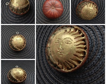 pendant gold sun and moon