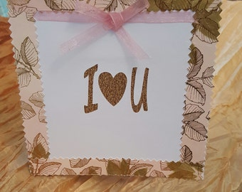 Valentine's Day Card, Greeting Card, Holiday Gard, Card, Handcrafted Card, Handmade Card, FREE SHIPPING, Greeting Card