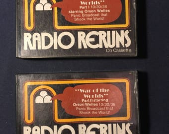 War of the Worlds Cassette Tape  Set 1979 release - 1938 recording