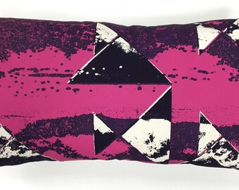 Cushion Cornish Waves Collection - Screen printed by hand 30cm x 45cm zipped