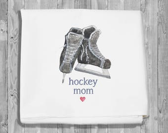 flour sack towel for kitchen and bar - hockey mom
