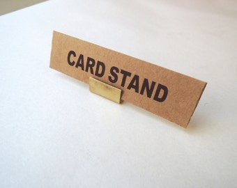 Brass Card Stand -Small-