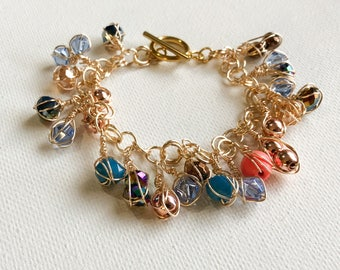 Bracelet with crystals charms