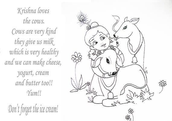 krishna krsna coloring pages instant downloadable print