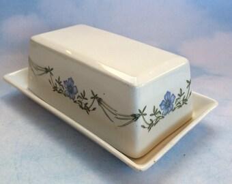 Vintage Portmeirion Butter Dish The Queens Hidden Garden England