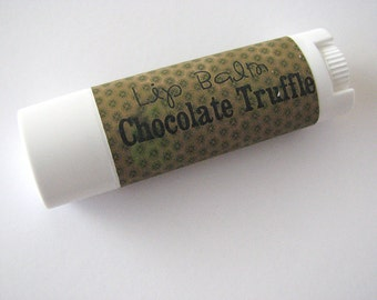 Chocolate Truffle - Vegan Lip Balm - Natural Lip butter - Nut Free - bath and beauty - No Beeswax - Bath and Body
