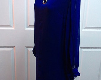 Vintage Ladies Blue Dress