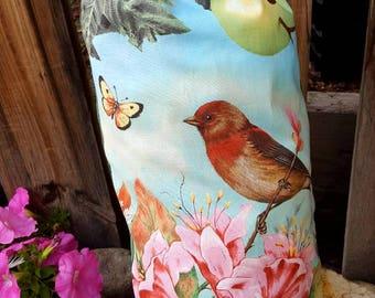 Bird Plastic Bag Holder, Cardinal Grocery Bag Dispenser, Autumn Shopping Bag Keeper, Spring Bag Caddy, Winter Bag Holder, Summer Bag Holder
