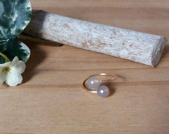 Dyed agate stone thin ring