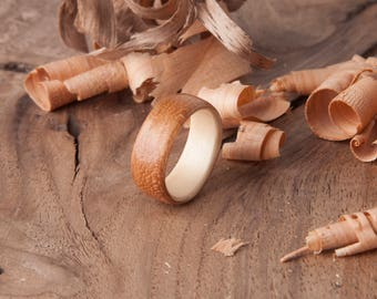 Bentwood Rosewood Maple ring - engagement ring - wedding ring