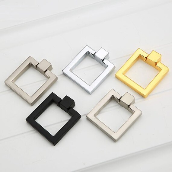 Square Drop Rings Pulls Knobs Cabinet Door Knobs Pulls Dresser Knob ...
