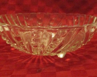 EAPG Bowl, Bubble Design, Footed,  VGC