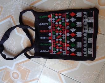 Vietnam Red Dao Cotton Embroidered  Messenger Bag