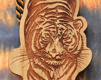 Tiger Bookmark, Tiger Shaped Bookmark, Wood Bookmark, Animal Bookmark, Bookmark