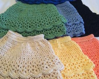 """Crochet Skirt for 18"""" Doll, Fits American Girl Doll"""