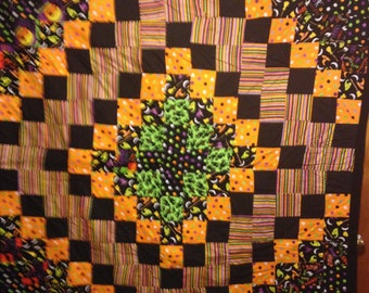 Handmade Patchwork Halloween Quilt