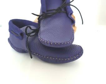 Adult Men's Moccasin / Inca style low cut / Minimalist shoe / Festival shoe / Grounding shoe