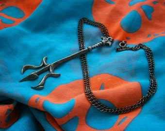 Trident Neptune Pendant, Pewter, Poseidon, Spear, Sea God