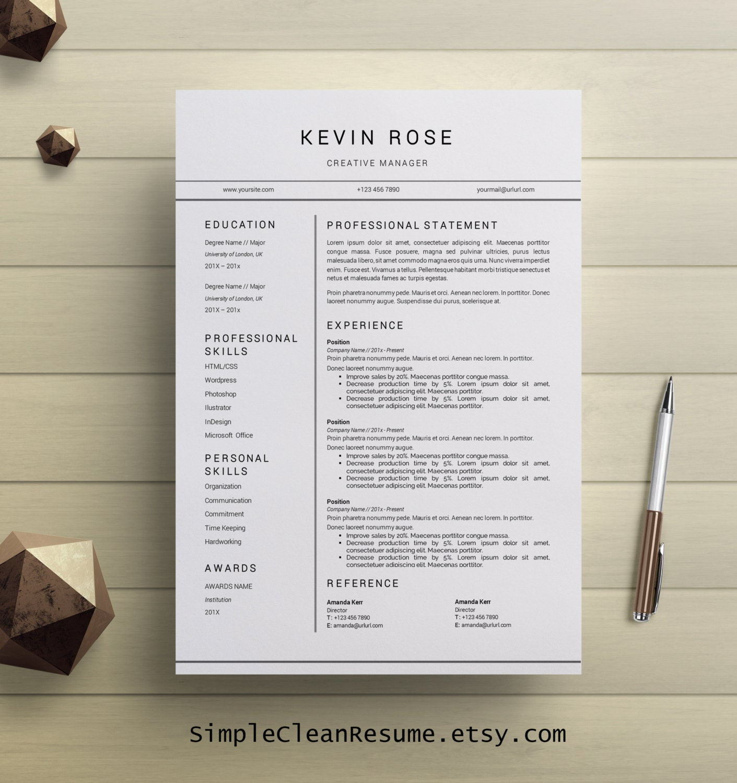 Modern Resume Template Modern Cover Letter Reference Letter