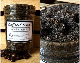 Coffee Scrub Organic Coffee Scrub Mocha Mint Coffee Scrub