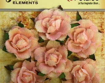 Petaloo Textured Elements Garden Canvas Rosettes Pink