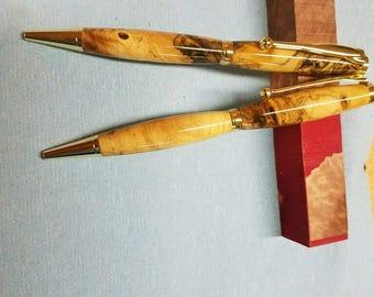 Buckeye Burl Slimline Pen