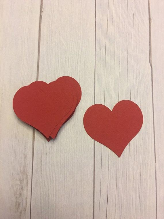 Heart Die cuts Valentines Day Decor Heart Decor Paper Die