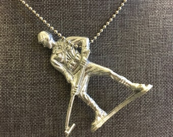 Metal Detecting Man (Repurposed Toy Necklace)