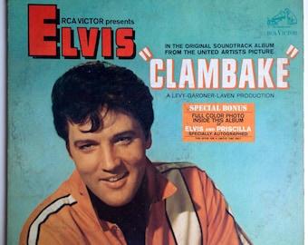 Elvis Presley - Clambake - Original Motion Picture Soundtrack LP Vinyl Record Album, RCA Victor - LSP 3893, 1967, Original Pressing