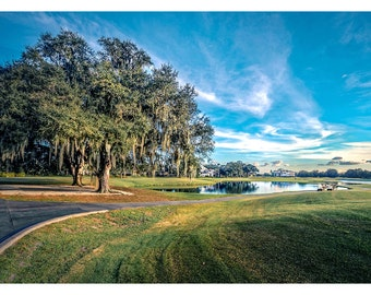 Golf Course In Paradise - Art & collectible photo Giclee prints for home decor or gift suggestion for any occasion.