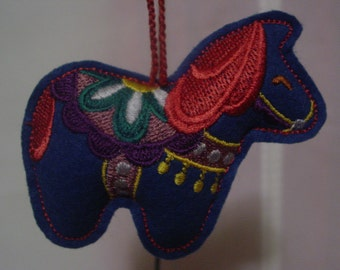 Scandinavian Horse Ornament