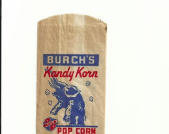 Burch's Kandy Korn Vintage Popcorn Bag, 1920s