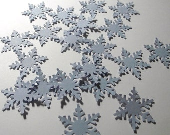 Cardstock Snowflake Light Blue Confetti Punches-20 Count