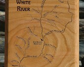 WHITE RIVER MAP Wall Plaq...