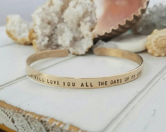 Gold Cuff Bracelet, Custom Gold Bracelet, Personalized Gold Cuff, 14kt Gold Fill, Gold Bracelet, Cuff bracelet, Secret Message Cuff Bracelet