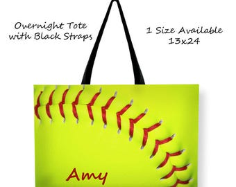 Softball Travel Bag-Personalized Tote Bag-Sports Tote-Softball Bag-Overnight Bag-Weekend Tote Bag-Team Mom Gift-Gift for Girls